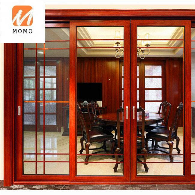 المعاصرة الألومنيوم زجاج الفناء الخارجي أبواب ثنائية الطيات بويرتاس دي ماديرا الباب الصناعي مربع Led الألومنيوم الشخصي