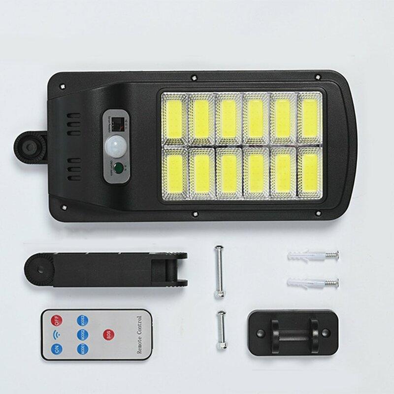 إضاءة للشارع بالطاقة الشمسية 120 COB محس حركة أضواء الجدار الأمن كشاف ضوء للسياج في الهواء الطلق حديقة سطح السفينة