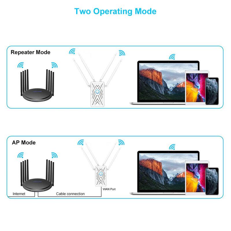 مكرر لاسلكي واي فاي مكبر صوت أحادي مع شبكة مزدوجة مستقرة واي فاي إشارة تغطية واسعة اثنين من وضع التشغيل واي فاي مكرر