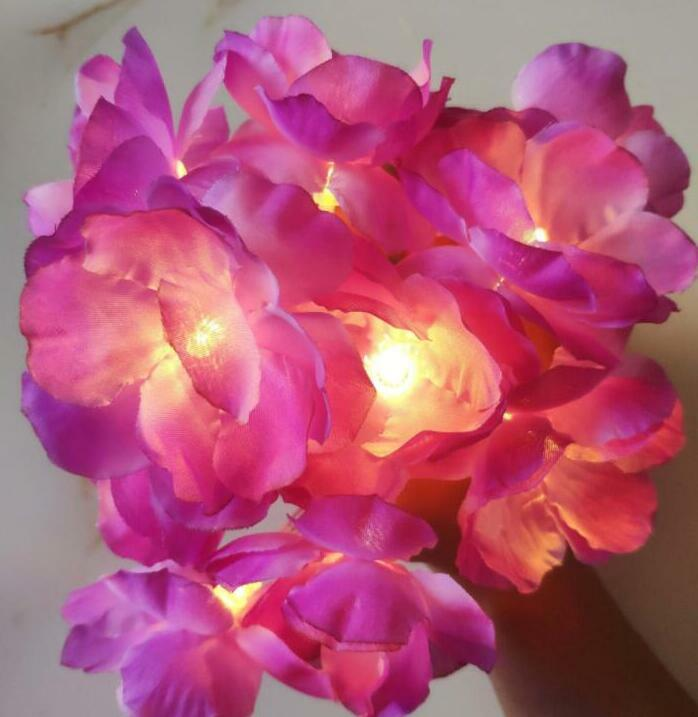 الديكور LED زهرة سلسلة ضوء عطلة صندوق بطارية مصباح سلسلة 2 متر 10led