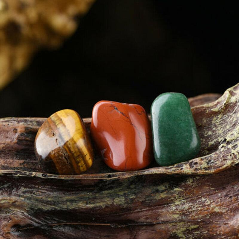 20 قطعة كريستال الأحجار الكريمة مصقول شفاء شقرا حجر مجموعة عرض مجموعة
