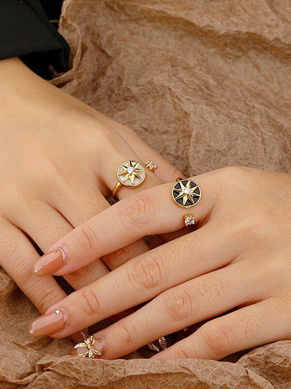 S'STEEL فضة 925 خاتم الزركون للتدوير مثمنة ستار مصمم هدية للنساء المشاركة 2021 اكسسوارات مجوهرات