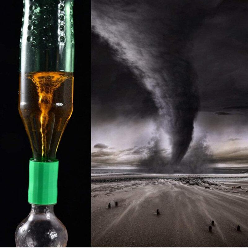 رائجة البيع 5 ألوان دوامة زجاجة موصلات Tornado موصل أنبوب لتجربة علمية واختبار هدية عيد ميلاد خاصة