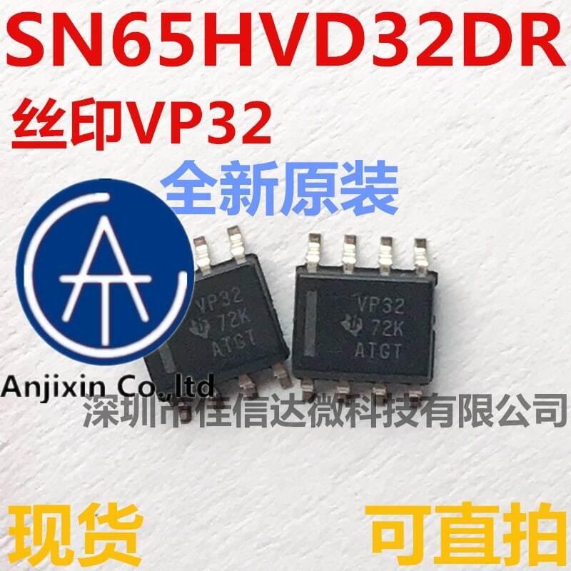 10 قطعة 100% الأصلي جديد الأسهم الحقيقية المستوردة SN65HVD32DR VP32 SOP8 جهاز الإرسال والاستقبال رقاقة IC SN65HVD32