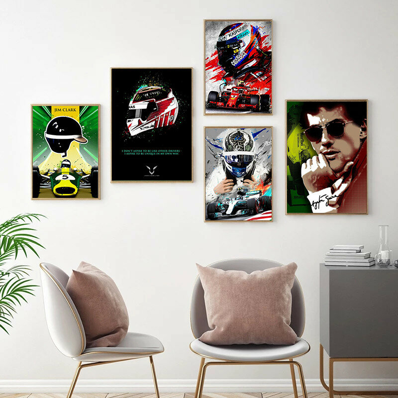 متسابق الملصقات و المطبوعة مجردة لوحات سيارة على صور فنية للجدران المعيشة ديكور جدار الغرف Cuadros