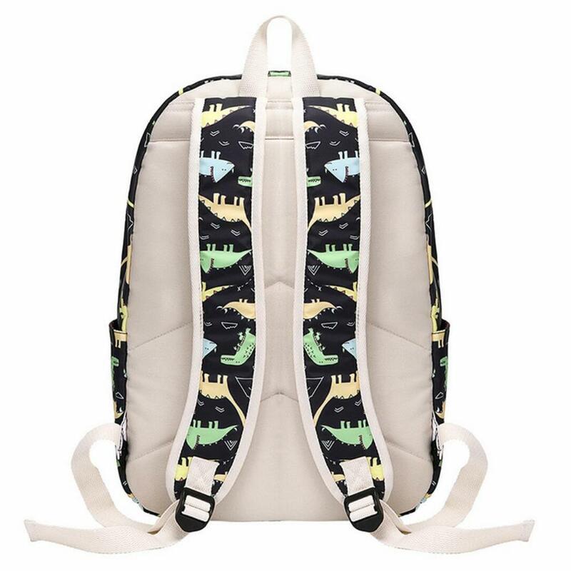 حقيبة الظهر للأطفال الأولاد مرحلة ما قبل المدرسة على ظهره مع علب الاغذية طفل رياض الأطفال حقيبة مدرسية مجموعة لطيف الكرتون ديناصور الاطفال