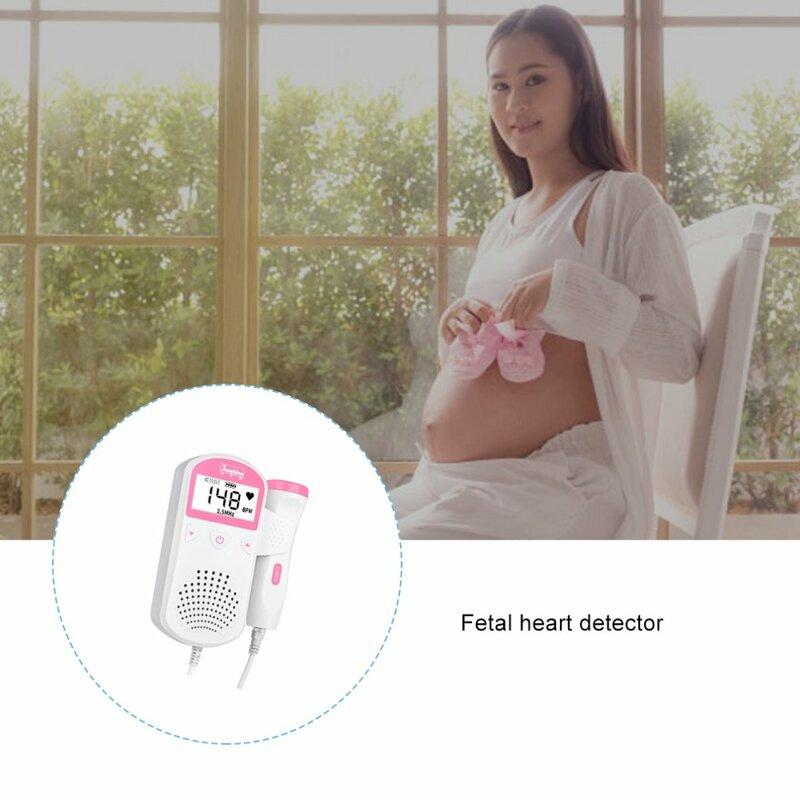 دوبلر الجنين مراقب معدل ضربات القلب شاشة الكريستال السائل لا الإشعاع pregفئة الطفل و الجنين الصوت كاشف معدل ضربات القلب 1 Set