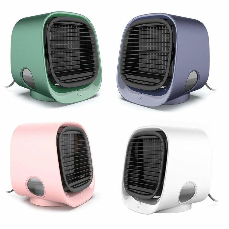 محمول مكيف هواء صغير مروحة الفضاء الشخصي برودة مبرد الهواء الصغير منضدة المكتب المنزلي مروحة التبريد