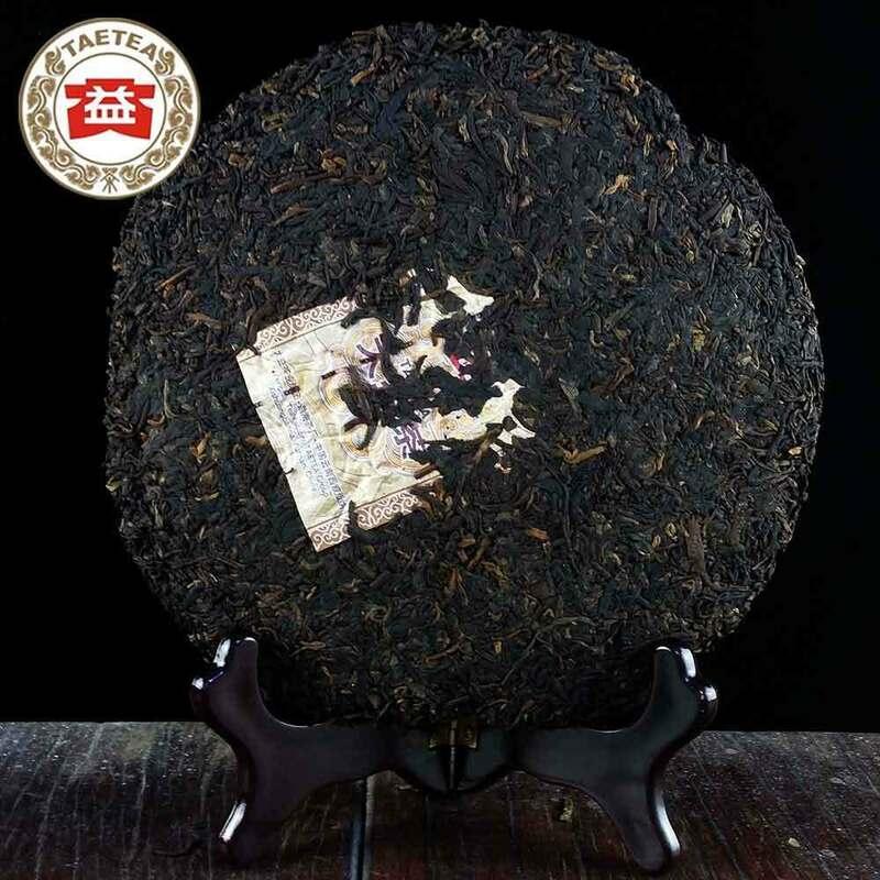 100% أصيلة 2014 سنة TAETEA شاي بوير 7592 شو Pu-erh كعكة ناضجة Pu'er الشاي 357g للرعاية الصحية فقدان الوزن الشاي