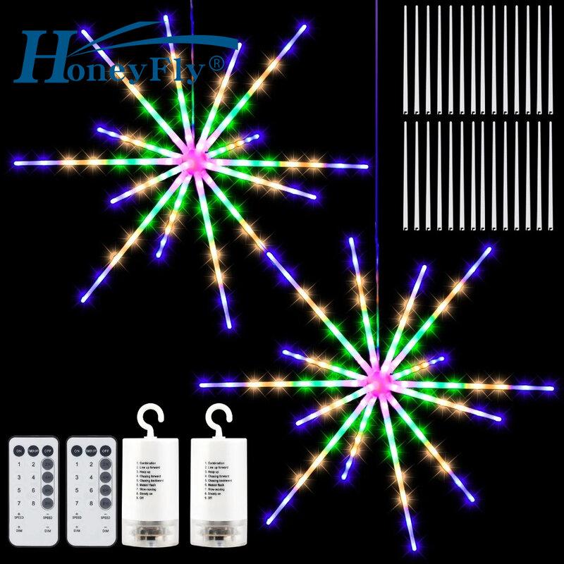 هانيفلاي نيزك دش LED فانوس أضواء 14 أنابيب عيد الميلاد سلسلة أضواء عطلة الإضاءة حفل زفاف الديكور