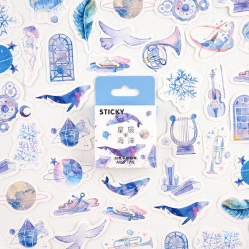 45 قطعة/صندوق لطيف بلالين من الكارتون ملصقات مجموعة الزخرفية سكرابوكينغ DIY بها بنفسك ألبوم مذكرات بطاقة لاصقة الاطفال هدية القرطاسية ملصقا