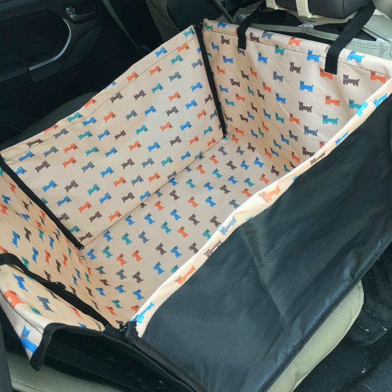 20 نمط الكلب غطاء مقعد السيارة مقاوم للماء الصف الخلفي مقعد واحد كلب السفر حصيرة الكلب الناقل سيارة أرجوحة وسادة حامي