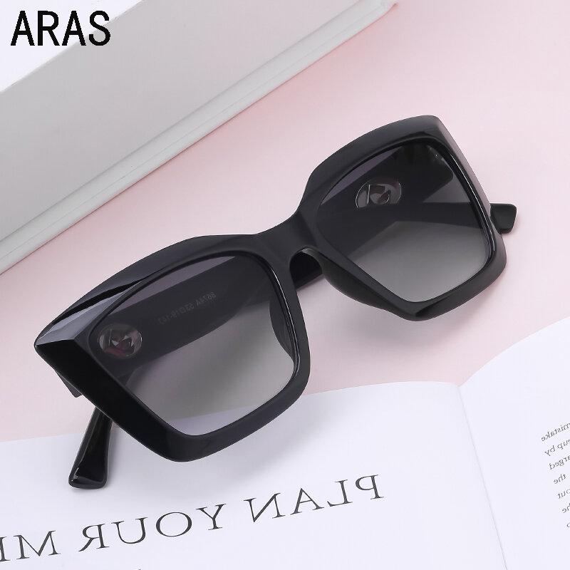 جديد القط العين النظارات الشمسية النساء 2021 موضة الأسود الفاخرة العلامة التجارية مصمم Vintage نظارات شمسية المتضخم ظلال للنساء نظارات
