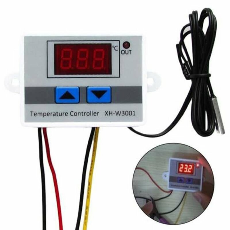 24 فولت الرقمية LED متحكم في درجة الحرارة ترموستات التبديل مقاوم للماء التحقيق سلك ربط حساسية عالية درجة الحرارة الاستشعار