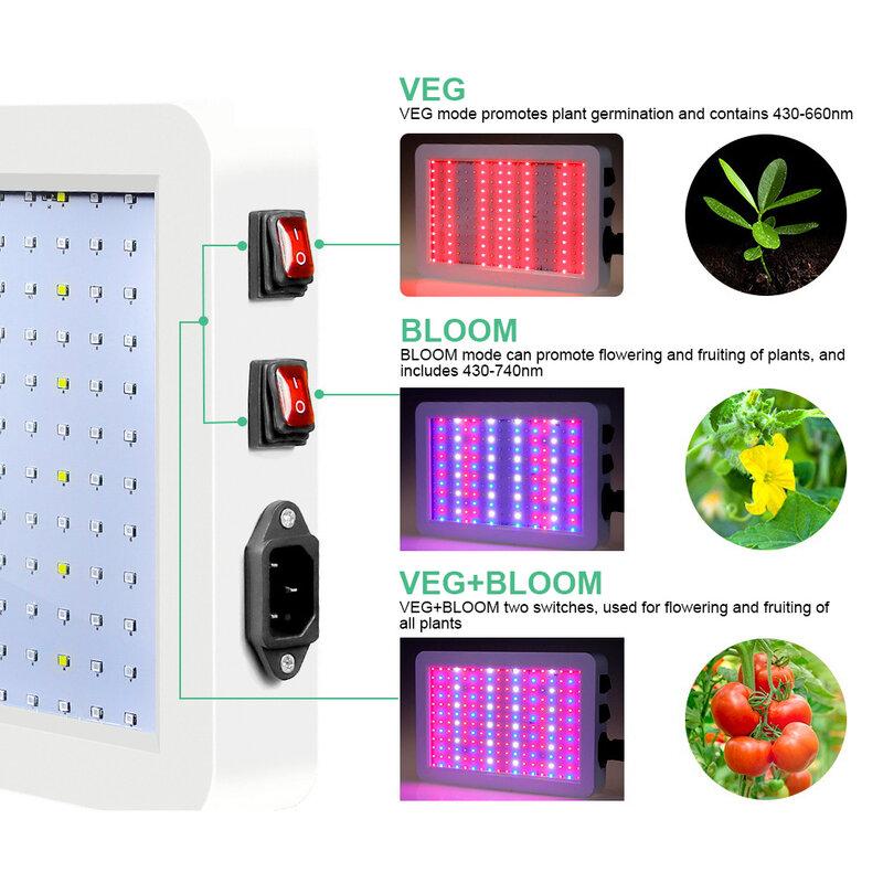 LED تنمو ضوء Phytolamp للنباتات 2835 مقاوم للماء 2000 واط/1000 واط Led رقاقة مصباح نمو النبات الطيف الكامل الإضاءة داخلي