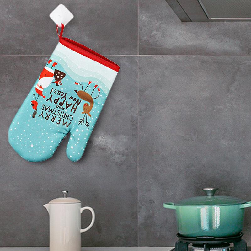 قفازات مطبخ العزل عيد الميلاد نمط الوسادة الطبخ قفازات للمايكرويف الخبز شواء فرن Potholders فرن قفازات pothold الوسادة
