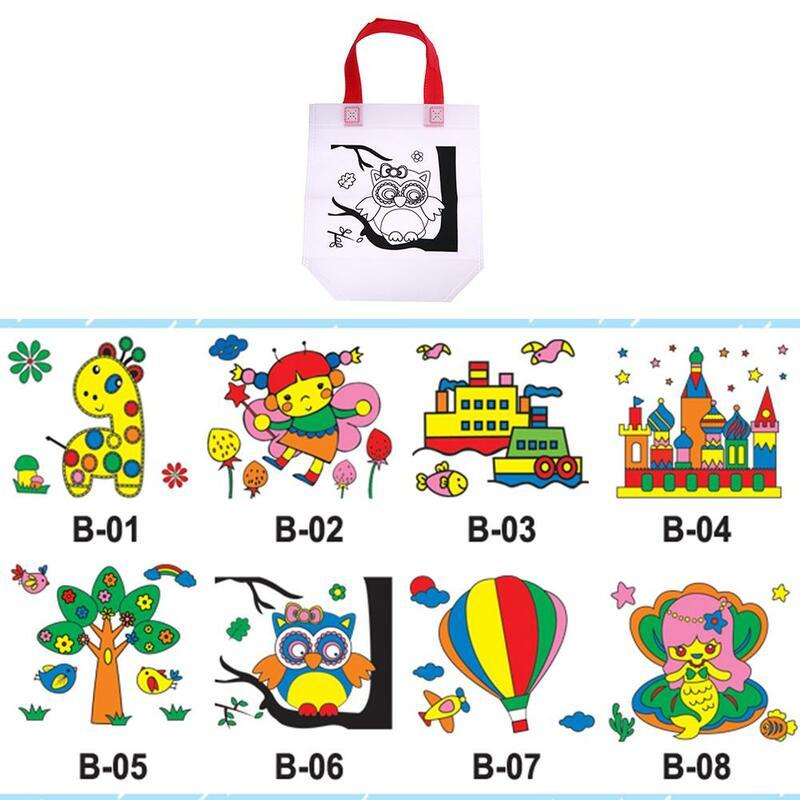 لوحة ملونة للأطفال ، رسم جرافيتي للأطفال ، بطاقات ألعاب إبداعية