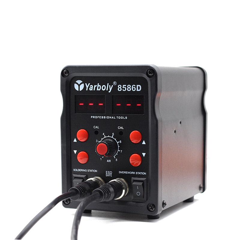 8586D سبيكة لحام الهواء الساخن محطة لحام لتقوم بها بنفسك محطة إعادة العمل الرقمية إصلاح الهاتف مسدس هواء ساخن