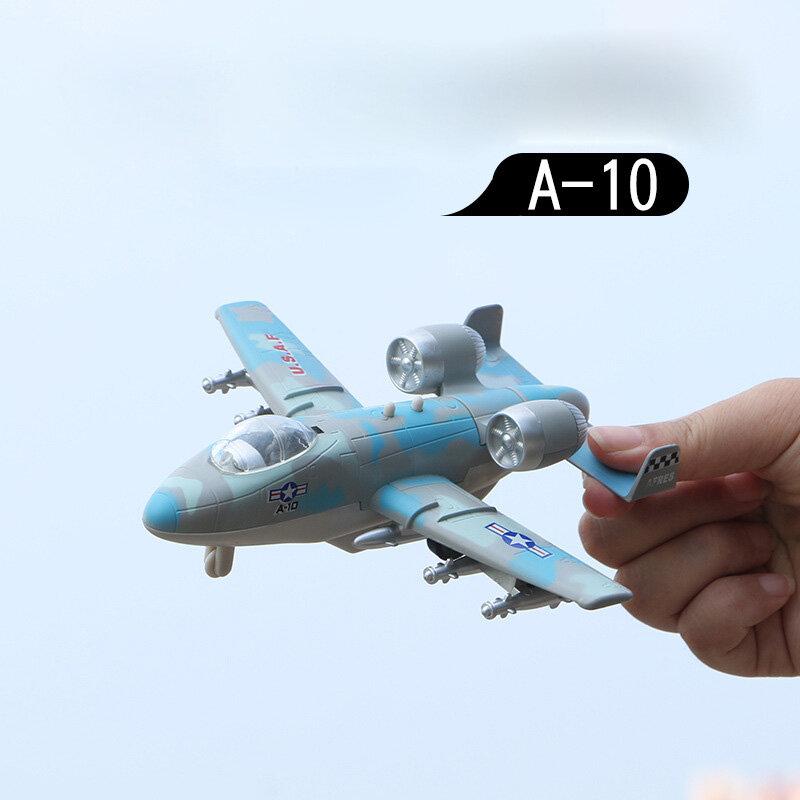 طائرة لعبة ألعاب أطفال الهواء قاذفة الأطفال هدايا 2020 موضة جديدة وعرة نموذج السلامة محاكاة صغيرة متعدد الألوان A-10model