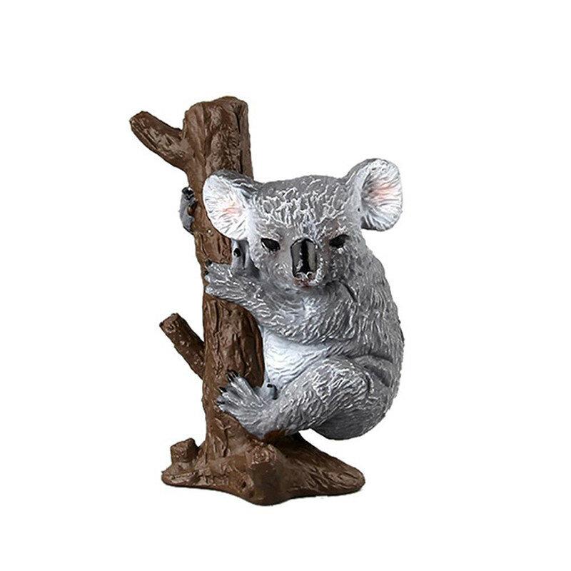مجسمات حيوانات كوالا قابلة للتحصيل للأطفال ، محاكاة ، ألعاب ، نماذج حيوانات برية ، ديكور منزلي