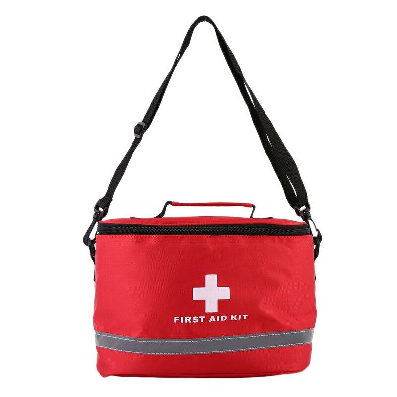 في الهواء الطلق الإسعافات الأولية الرياضة حقائب التخييم المنزلية الطبية الطوارئ بقاء حزمة الأحمر النايلون ضرب عبر رمز حقيبة كروسبودي