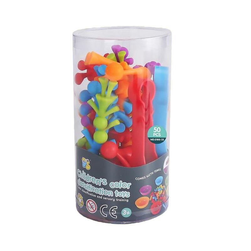 لعبة مطابقة لألوان قوس قزح الإدراك الحيواني فرز ألغاز الحيوانات الجميلة لعبة أطفال للتنسيق بين اليد والعين هدية قطار