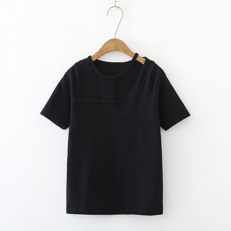جديد لربيع وصيف 2021 قميص سيدات مثير من البوليستر بحجم كبير تي شيرت علامة تجارية قميص خارجي