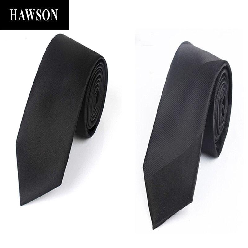 HAWSON أسود بلون التعادل ، الرجال 7 سنتيمتر السهم التعادل في هدية صندوق للمناسبات الرسمية ، اكسسوارات للرجال للقميص