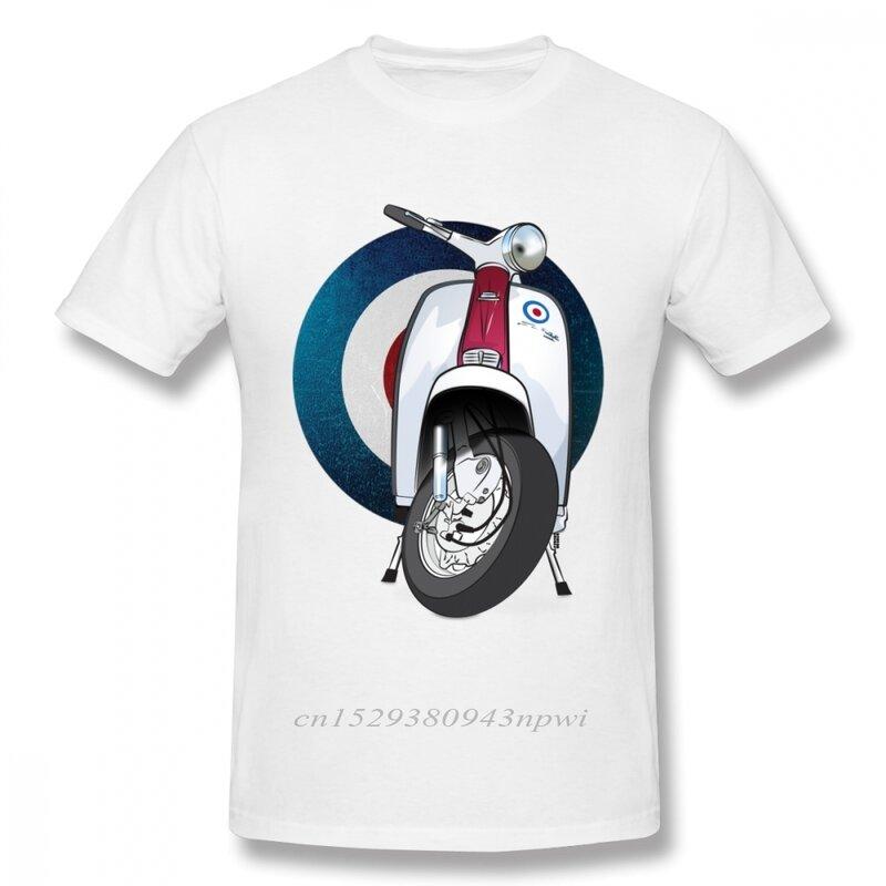 رهيبة الهدف شعار تي شيرت إيطاليا سكوتر تي شيرت رجل Vintage دراجة نارية الجرافيك تي شيرت حجم كبير