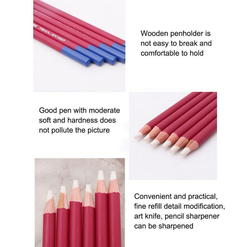 1 قطعة نمط القلم مراجعة التفاصيل ممحاة تسليط الضوء على النمذجة طالب لتصميم الرسم المطاط الفن لوازم مانغا قلم رصاص B4Q1