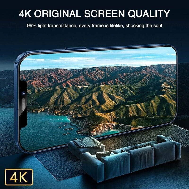 99D زجاج غطاء كامل على آيفون 12 11 برو ماكس X XS ماكس XR الزجاج المقسى آيفون 7 8 Plus SE 2020 حامي الشاشة