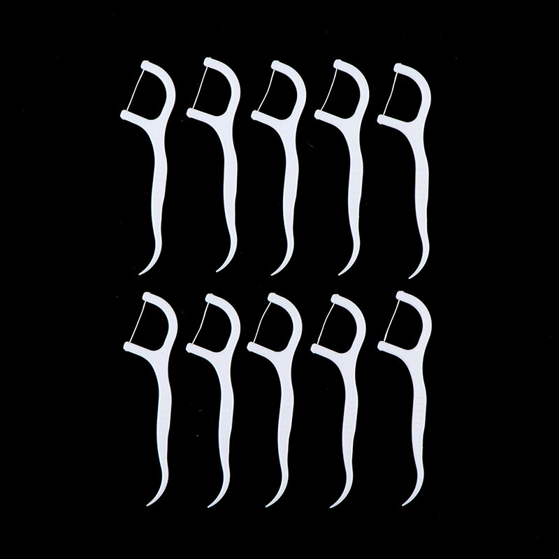 100 قطعة/الوحدة الأسنان Flosser نظافة الفم الأسنان العصي الأسنان الخيط المياه الفم الأسنان اختيار الأسنان يختار ABS الخيط
