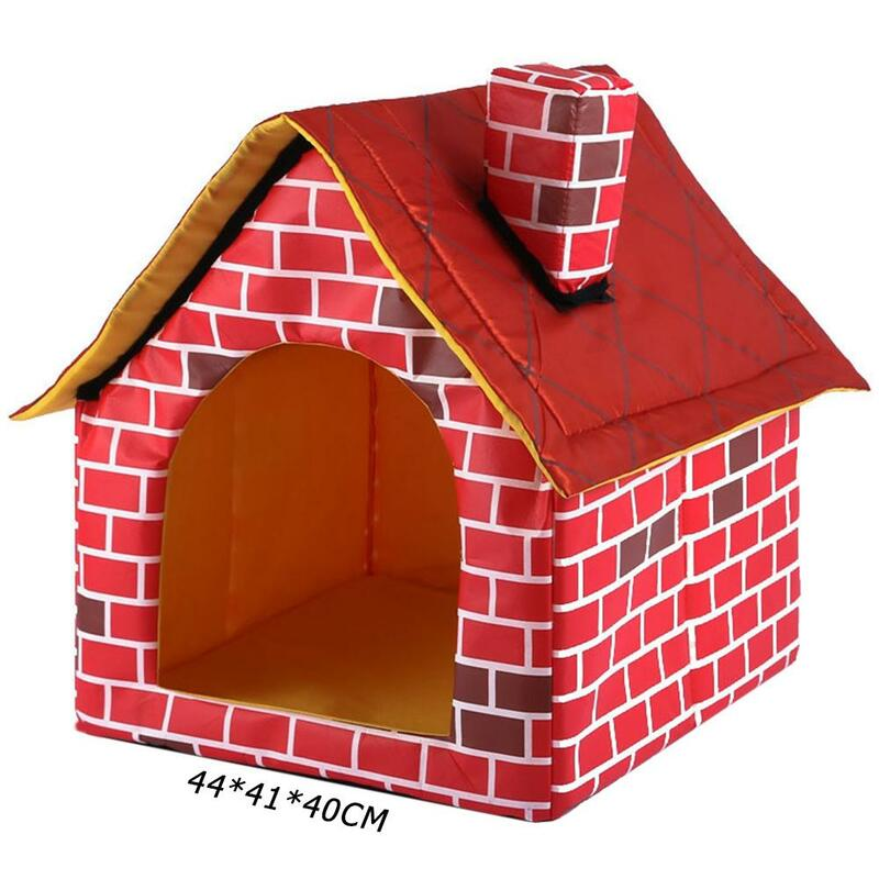 Hot البيع بيت الكلب تصميم دقيق طوي بيت الكلب بصمة صغيرة الحيوانات الأليفة خيمة سريرية القط بيت الكلب السفر