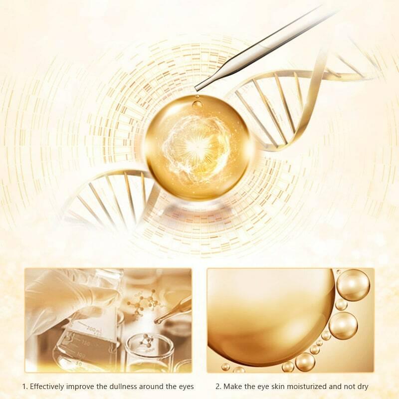 24K الذهب كريم عين مصل مكافحة الشيخوخة التجاعيد إزالة الهالات السوداء كريم عين يتلاشى الخطوط الدقيقة صيانة العناية بالعين