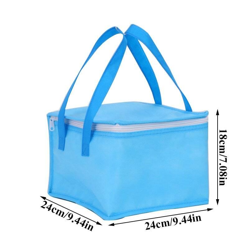 الحفاظ على حقيبة عزل كعكة جديدة المحمولة سستة أكياس الغداء الحرارية للنساء مريحة علب الاغذية حمل أكياس الغذاء بالجملة