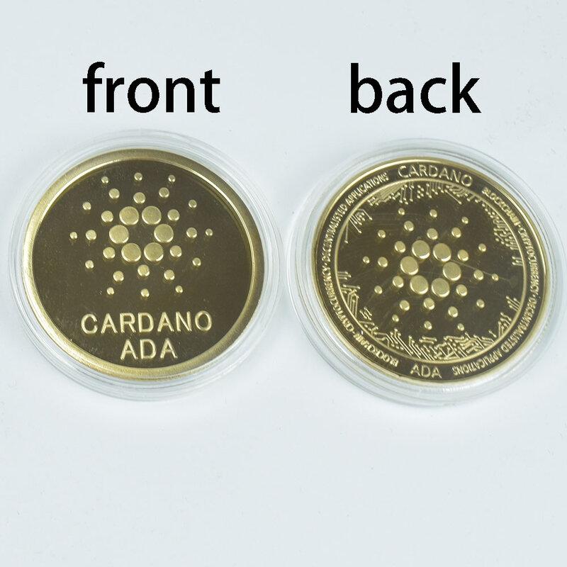 رائجة البيع مطلية بالذهب Cardano ADA عملة Cryptocurrency المادية جمع عملة معدنية