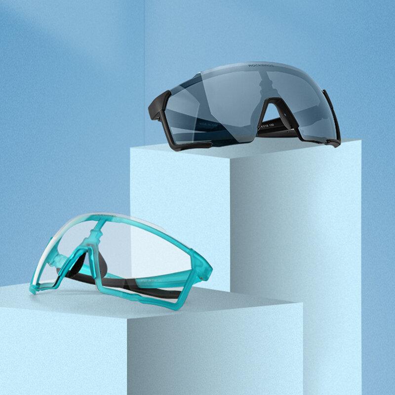 نظارات ركوب الدراجات من ROCKBROS نظارات شمسية مستقطبة بالضوء اللوني للدراجات نظارات للرجال نظارات رياضية للدراجات الجبلية نظارات ركوب الدراجات