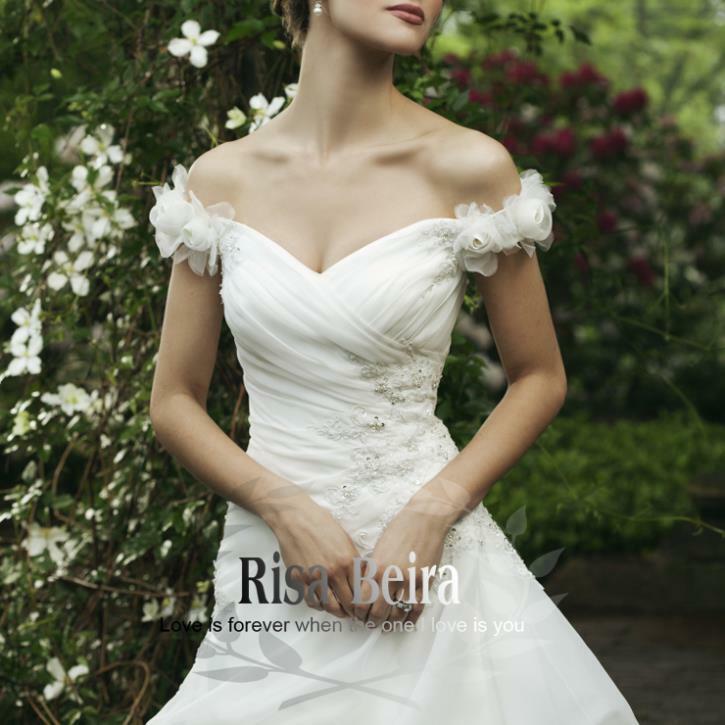 فستان زفاف أورجانزا أبيض ، مقاس كبير ، أكمام ، زينة دانتيل ، فساتين أنيقة ، فستان زفاف ، شحن مجاني ، مجموعة جديدة 2016