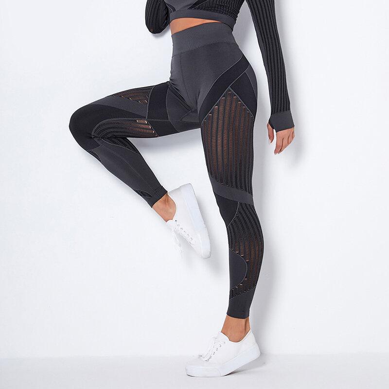 15% دنة فقاعة بعقب رفع السراويل مرونة الجوف خارج اللياقة البدنية الرياضة طماق النساء عالية الخصر لفافة ساق غير مخيطة