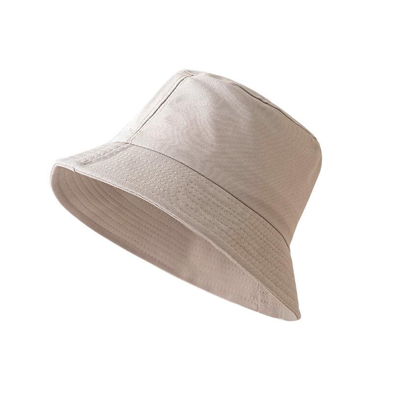 1 قطعة الكورية نمط أزياء النساء الرجال دلو قبعات الصيد قبعة أضعاف للجنسين الشمس بلون الربيع الصيف خارج الباب الصياد قبعة