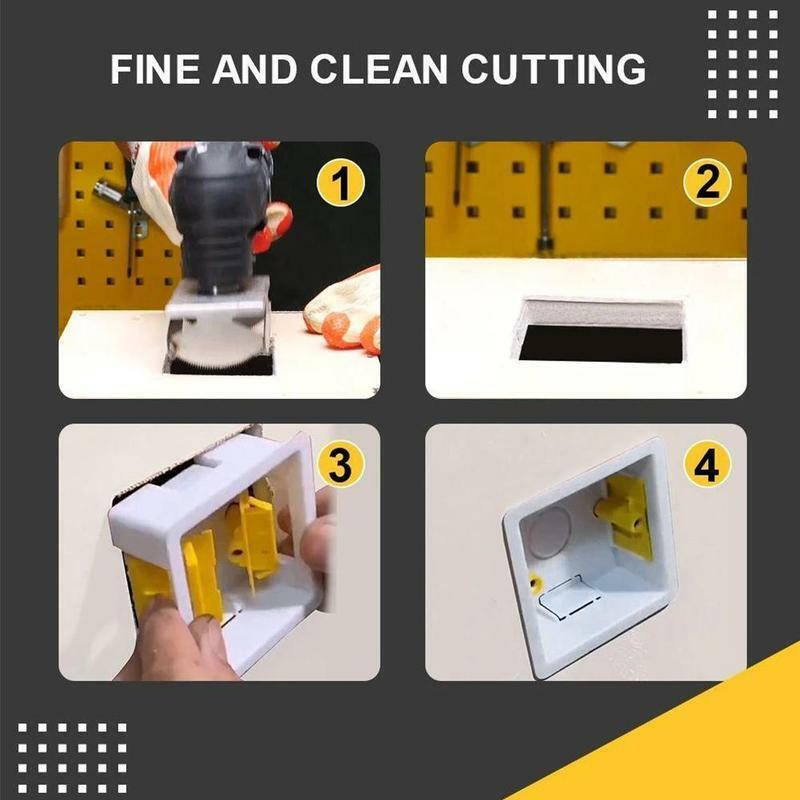 جديد مربع فتحة القاطع المقبس ثقب فتاحة قطع دقيقة بسرعة مع أدوات تتأرجح القياسية