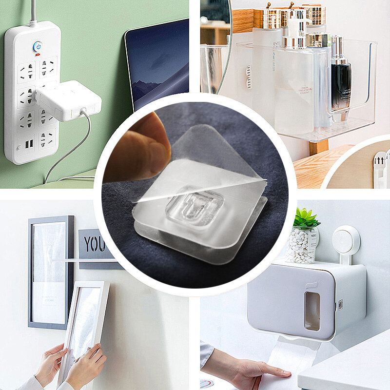 السنانير شماعات قوية شفافة مصاصة هوك للمطبخ الحمام الزخرفية مزدوجة الوجهين شفط كأس متعددة الأغراض جدار السنانير