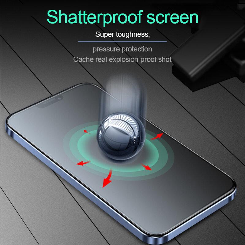 2-1 قطعة حامي الشاشة آيفون 13 12 11 برو ماكس غطاء كامل صغير ماتي هيدروجيل فيلم XR X XS 8 7 6 6S زائد SE 2020 وليس الزجاج