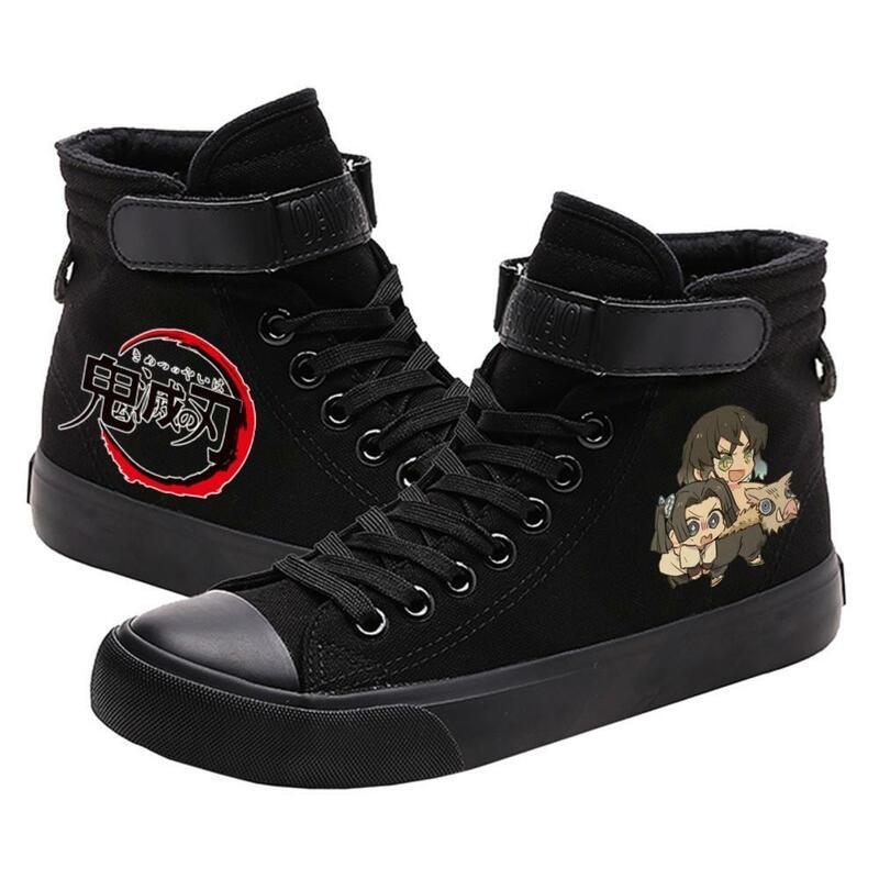 شيطان القاتل Tsuyuri Kanawo التوضيح عالية الجودة تنفس قماش وجوه Kamado Tanjirou في سن المراهقة تخصيص موضة أحذية رياضية