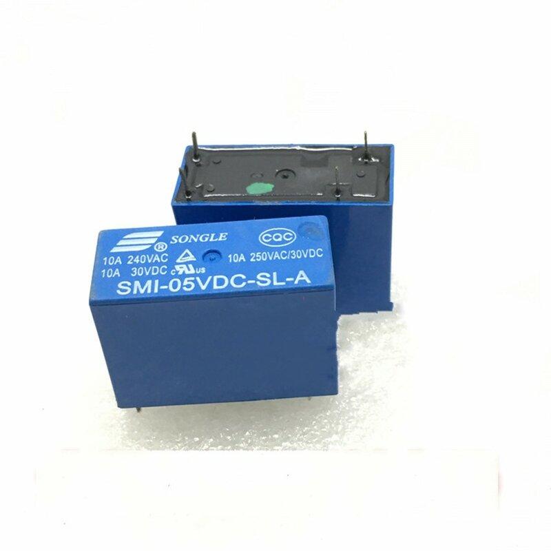 10 قطعة السلطة التبديلات SMI-05VDC-SL-A 5 فولت 10A 4PIN التتابع جديد الأصلي أسعار الجملة