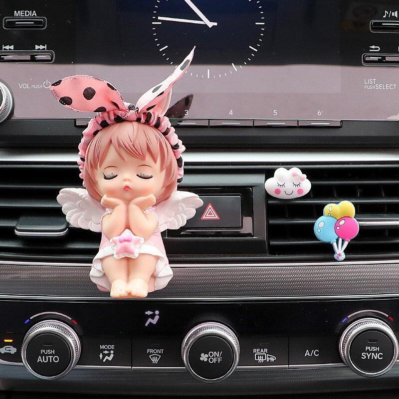 سيارة الهواء منفذ الروائح كليب الديكور الداخلي أنيمي لطيف طفل آني عمل أرقام العطر اكسسوارات السيارات الفتيات الهدايا
