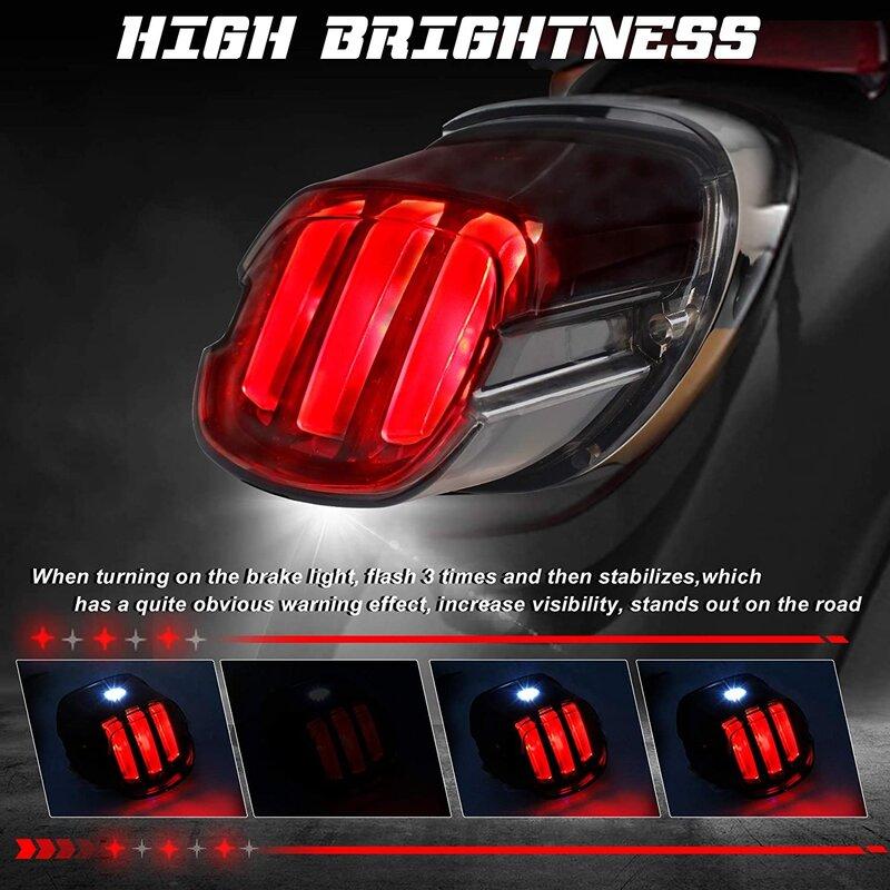 NTHREEAUTO مصباح LED للمكابح الذيل ضوء الخلفية بدوره إشارة المصابيح الخلفية DOT وافق دراجة نارية تشغيل لوحة ترخيص وقف أضواء متوافقة