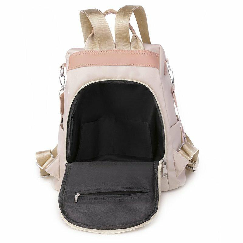 تطريز أنيق على ظهره الزهور المرأة حقيبة الظهر أكسفورد حقيبة كتف المدرسة في سن المراهقة الفتيات عادية على ظهره Mochila