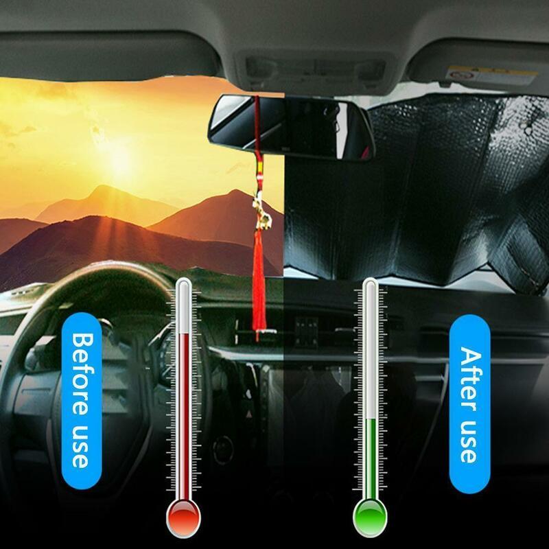 سيارة الشمس الظل UV حماية الستار مظلة السيارات فيلم نافذة قناع الجبهة ظلة غطاء الزجاج الأمامي الزجاج الأمامي Sunshad E0K0