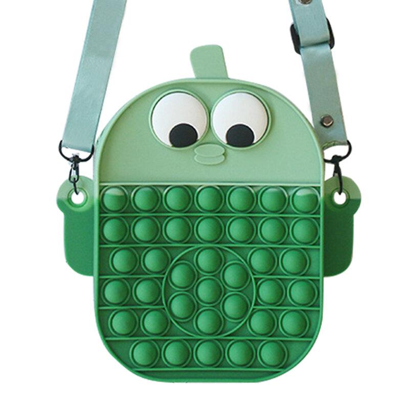 دفع فقاعة عبر الجسم حقيبة لعبة الحسية الاطفال الطلاب حمل حقيبة ضغط لغز لعبة مكافحة القلق مكافحة الإجهاد تخفيف الضغط